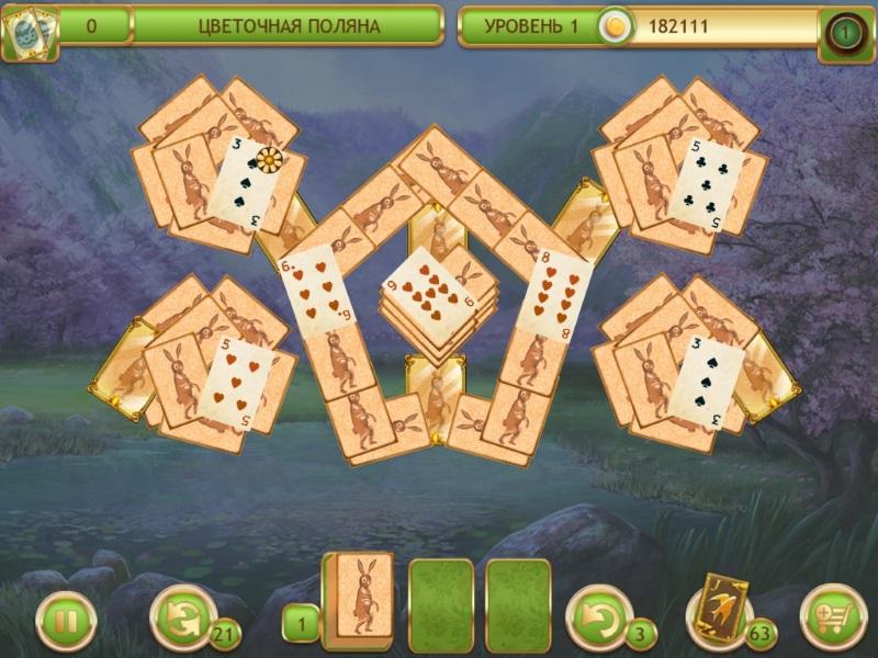 Играть карты 3 по пасьянс солитер
