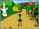 Скриншот игры - Страусиные бега